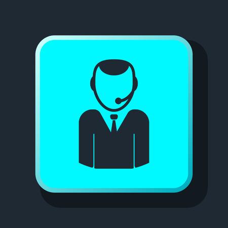 center: operator call center icon