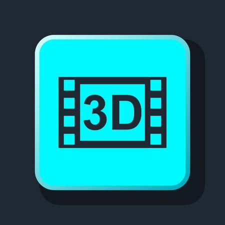 cine: 3d movie icon