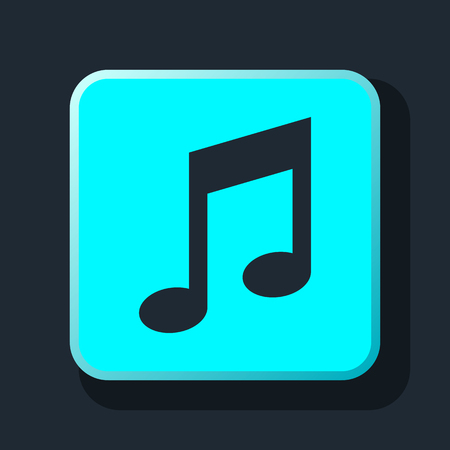 crotchets: music notes icon