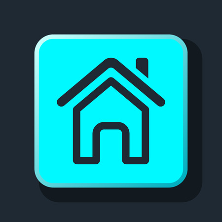 home icon: Outline home page icon