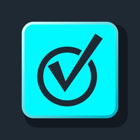finished good: check mark icon Illustration