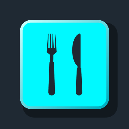 dinning table: fork and knife icon Illustration