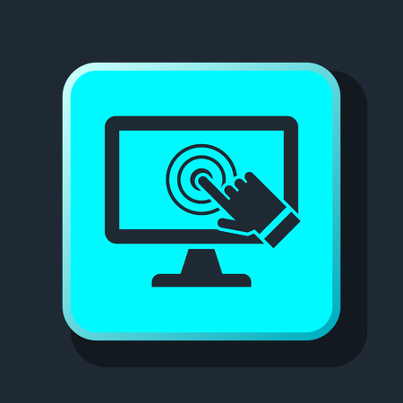pc: pc screen touch icon