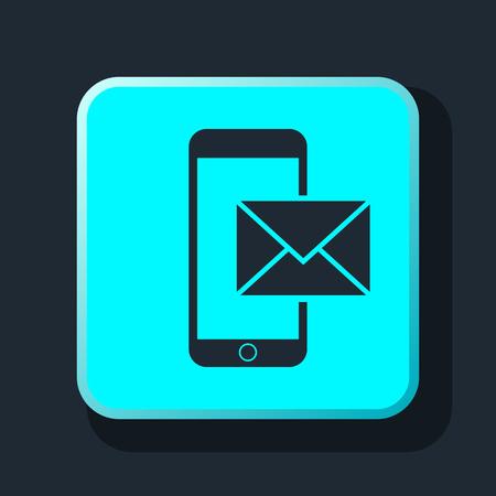 smartphone icon: mail smartphone icon Illustration