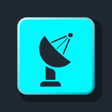 signal strenght: TV antenna icon Illustration