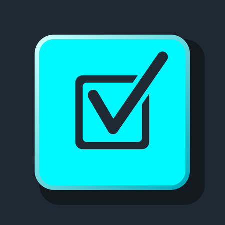 check mark icon: check mark icon Illustration