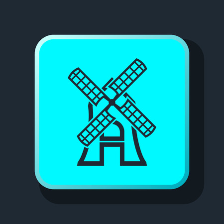 spinning windmill: outline windmill icon