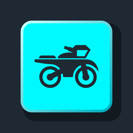 harley: motorcycle sign icon