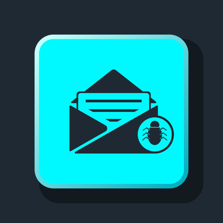 virus: spam virus in mail icon