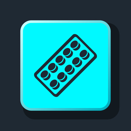 contraceptive: pills blister pack icon