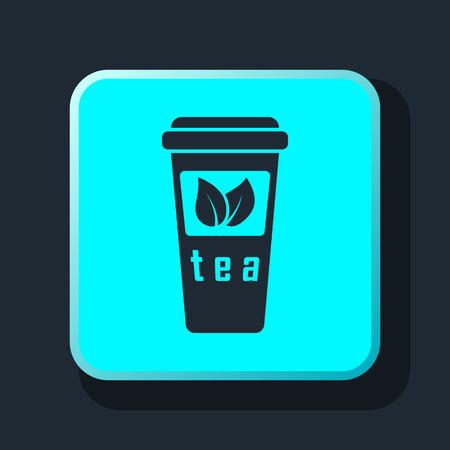 take out food: Take-out teacup icon