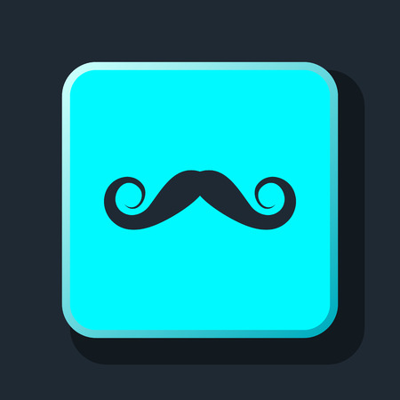 hipster mustache: hipster mustache icon