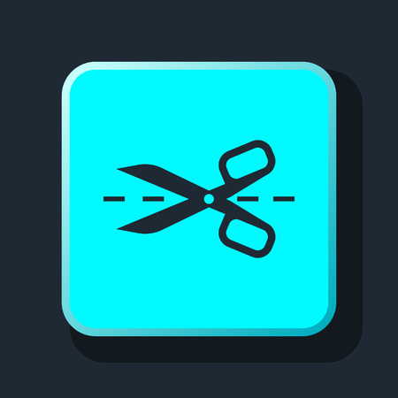 taylor: scissors with cut lines icon