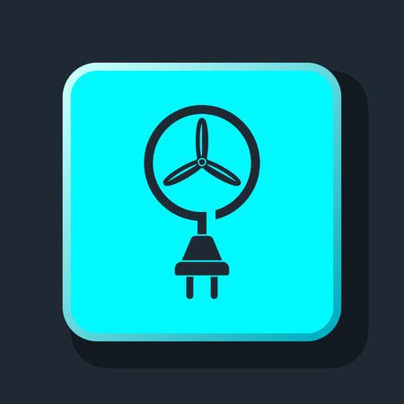 wind energy: wind energy icon Illustration