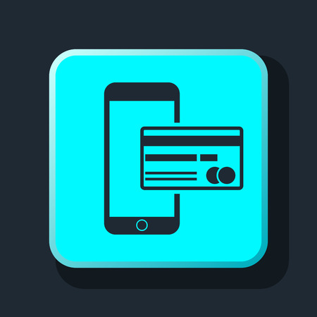 cardholder: Mobile banking icon