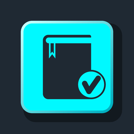 videobook: selected book icon Illustration
