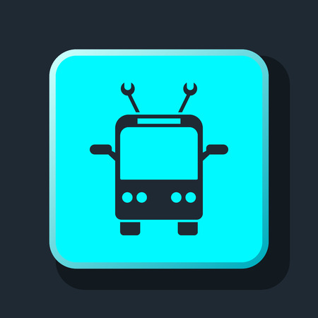 trolleybus: trolleybus icon Illustration