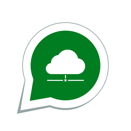 network connection plug: cloud data icon