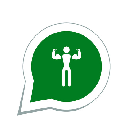 steroids: fitness man icon Illustration