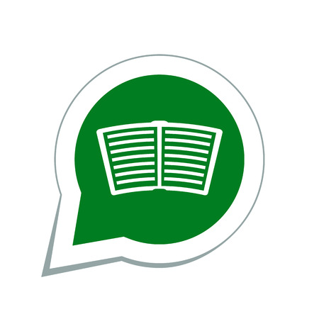 videobook: open book icon Illustration