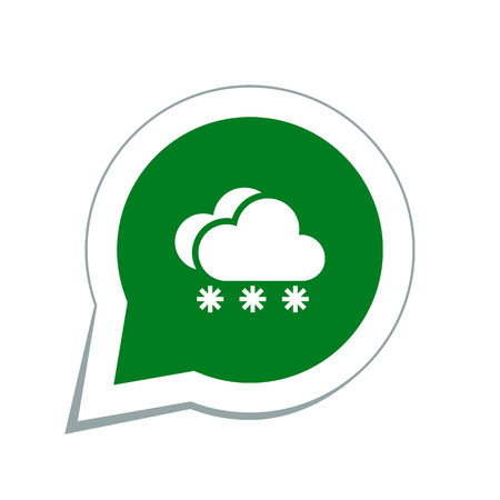 meteo: snow cloud meteo icon