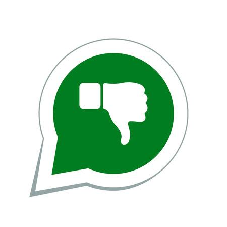 thumb down icon: thumb down icon Illustration