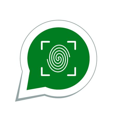 fingertip: Fingerprint icon