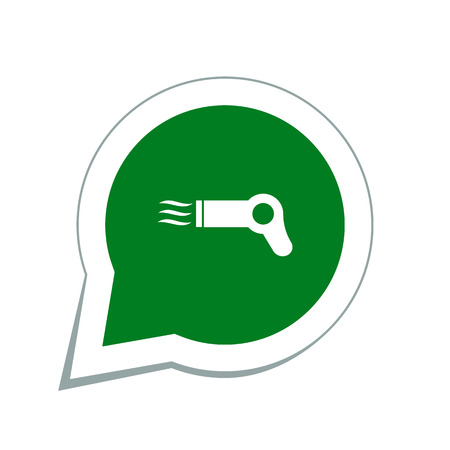 dressing treatment: Hairdryer sign icon
