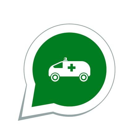 ambulance car: ambulance car icon