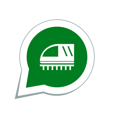 high speed railway: train sign icon