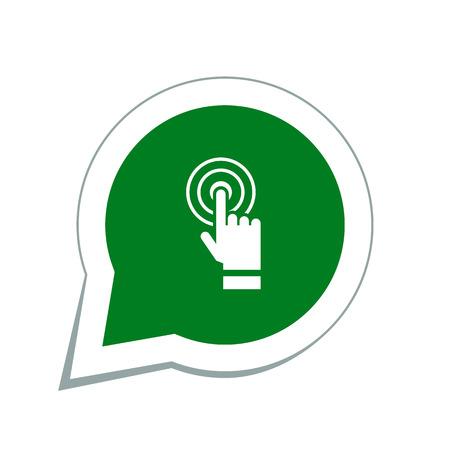 touching: Hand touching icon