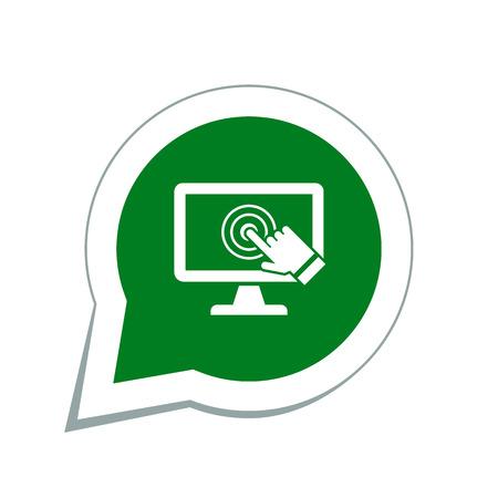 toque: pc �cone da tela de toque Ilustra��o