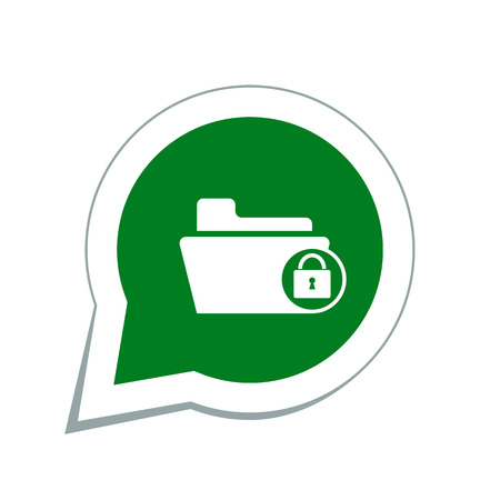 folder lock: lock folder icon Illustration