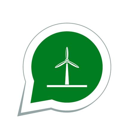 energies: windmill icon Illustration