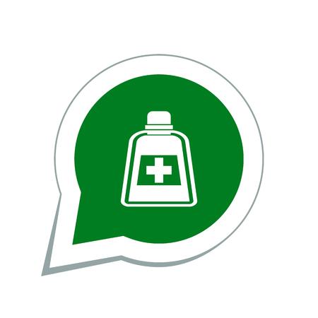 phial: medicine bottle icon Illustration