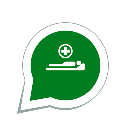 cama hospital: cama de hospital  Vectores