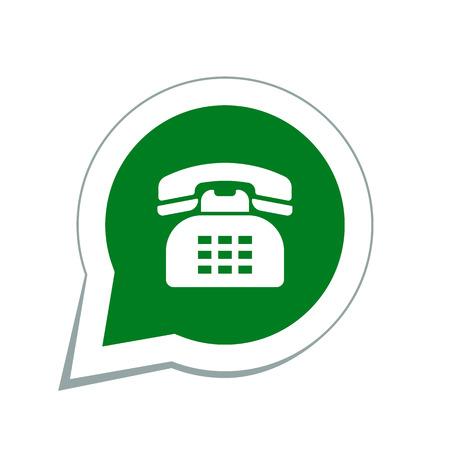 speaking tube: retro telephone icon
