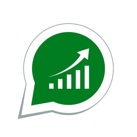 demografia: diagrama arriba icono