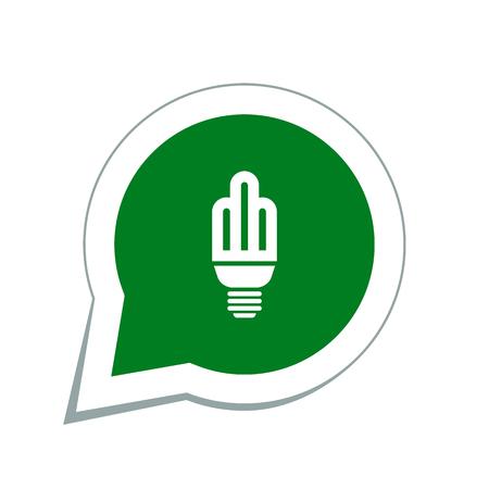 energysaving: energy-saving light bulb icon Illustration