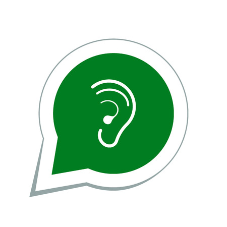 audible: hearing ear icon