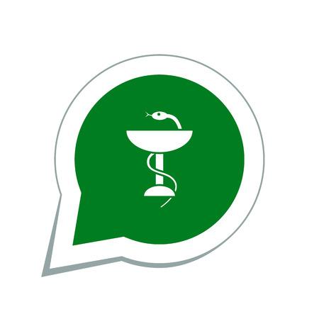 emblem for drugstore or medicine: medical sign icon