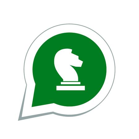chess knight: chess knight icon Vettoriali