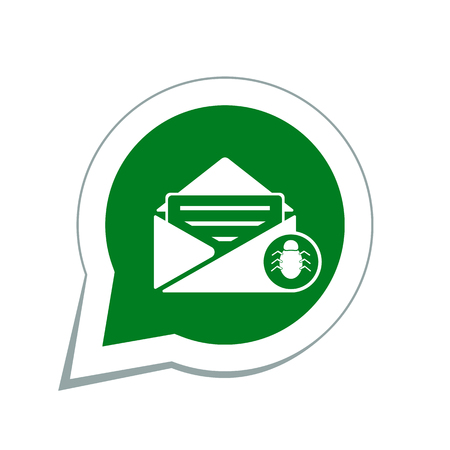spam: spam virus in mail icon