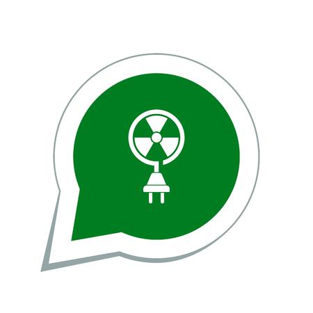 radiacion solar: icono de la energía nuclear