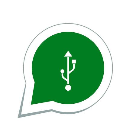 digital memory: usb icon Illustration