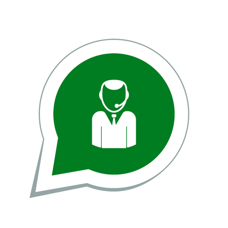 handsfree: operator call center icon