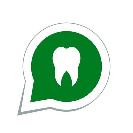 dentures: Tooth icon Illustration