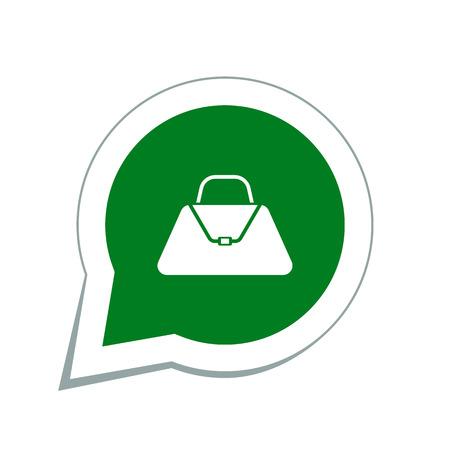hand bag: Icono del bolso de mano