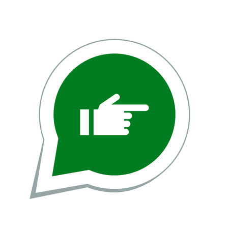 pointing hand: hand pointing finger icon Illustration