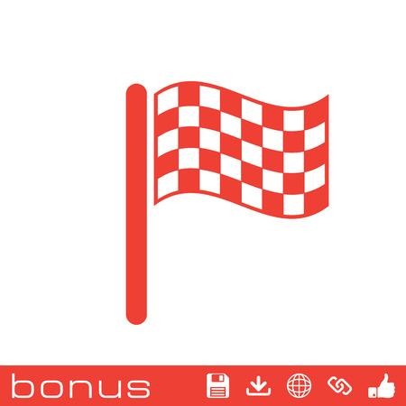winning location: start  finish flag icon Illustration